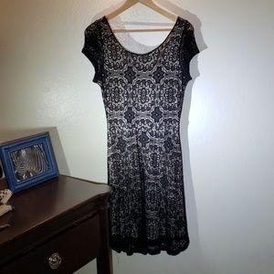 Modcloth Black Lace Dress